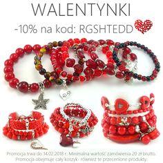 #walentynki #14lutego #dzieńzakochanych #biżuteria #prezent #dlaniej #bransoletki #czerwone Bracelets, Jewelry, Jewlery, Jewerly, Schmuck, Jewels, Jewelery, Bracelet, Fine Jewelry