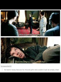 Poor Sherlock<<<< I don't ship Johnlock but I do think he missed John as his best friend and 'partner in crime'