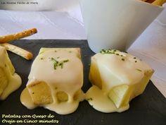 Las Recetas Fáciles de María: Patatas en Cinco Minutos con Queso de Oveja