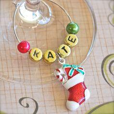 Christmas Wine Glass Charm « Winky's Widgets | Wine Charms + Event Accessories