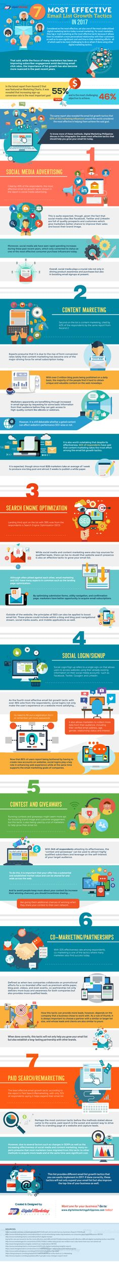 Digital marketing infographic & data visualisation Email Marketing Tips: 7 Effective Ways to Grow Your Email List in 2017 [Infographic] Infographic Description Tips: 7 Effective Ways to Grow Your Email List in 2017 Discovred by : Love To Work. Marketing Website, Email Marketing Strategy, Marketing Goals, Marketing Tactics, Business Marketing, Internet Marketing, Online Marketing, Social Media Marketing, Content Marketing