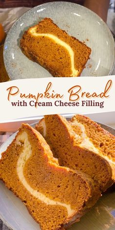 Best Pumpkin Bread Recipe, Pumpkin Recipes, Yummy Treats, Sweet Treats, Yummy Food, No Bake Desserts, Dessert Recipes, Cream Cheese Filling, Quick Bread
