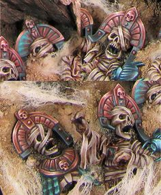 Coping with NMM Copper - an illustrated painting guide. Warhammer Tomb Kings, Warhammer Fantasy, Warhammer Figuren, Warhammer 40000, Warhammer Paint, Fantasy Paintings, Mini Paintings, Minis, Painting Competition
