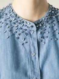 Resultado de imagen para embellished denim shirts