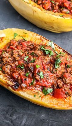 Weight Watchers Easy and Healthy Baked Spaghetti Squash with Meat Sauce Recipe - 15 Minute Prep TIme - Paleo, Low Carb, and Low Fat - 4 Smart Points