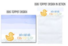 printable baby shower, rubber ducky, baby shower, rubber ducky baby shower, treat bag toppers, favor bag toppers, printable party, Party Box Design