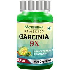 Morpheme Garcinia 9X contains Blend of Important Weight Managment Natural Ingredients Extract: Garcinia Cambogia, Green Coffee, Green Tea, Forskolin, Grape Seed, Turmeric, Ginger & Cinnamon.
