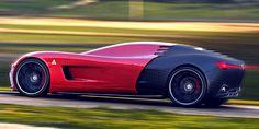 Alfa Romeo C18 Supercar Concept.