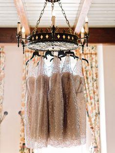 Metallic bridesmaids dresses!