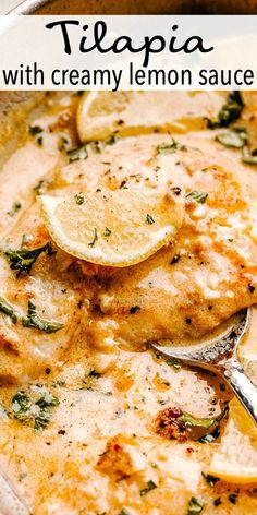 How to Cook the BEST Tilapia Fish! The fresh garlic, herbs and tender flaky fish makes this the best tilapia recipe ever! And, it's ready in under 30 minutes! # Easy Recipes fish Easy Skillet Tilapia Recipe - How to Cook the BEST Tilapia Fish! Salmon Recipes, Seafood Recipes, Cooking Recipes, Healthy Recipes, Baked Tilapia Recipes Healthy, Best Fish Recipes, Tilapia Fish Recipes, Best Fish Recipe Ever, Lemon Tilapia