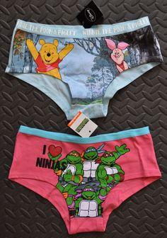 9f8b9446a5 Knickers Teenage Ninja Turtles   Winnie The Pooh Women s Ladies Briefs UK 6  - 20