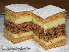See related links to what you are looking for. Hungarian Desserts, Hungarian Recipes, Hungarian Cake, Ital Food, Homemade Sweets, Croatian Recipes, Sweet Cookies, Sweet And Salty, Diy Food