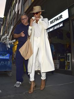 In a Barney's New York trench coat while out in New York City.   - ELLE.com