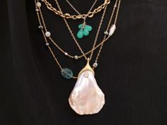Fine jewelry by Ron Anderson and David Rees — distinctly modern, organic and refined with the integrity of antique jewelry. Jewelry Art, Antique Jewelry, Fine Jewelry, Jewelry Design, Jewellery, Stacked Necklaces, Summer Jewelry, Personal Style, Gems