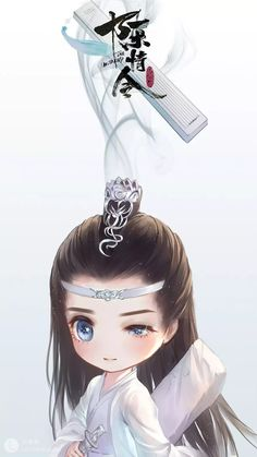 Lan Wangji from The Untamed Chibi Boy, Cute Anime Chibi, Cute Anime Pics, Animes Wallpapers, Cute Wallpapers, Anime Art Girl, Anime Guys, Anime Naruto, Cute Drawings