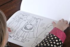 Paper Doll Coloring Book PDF Print Yourself by lilyandthistle- I LOVE this book! as does my kid!