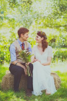 Colourful Woodland Humanist Wedding