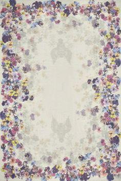 Floral Mako Cotton Blend Scarf