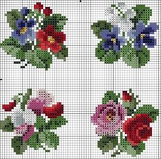 Gallery.ru / Фото #20 - Схемы вышивки крестом - pustelga Simple Embroidery, Cross Stitch Charts, Mini Cross Stitch, Modern Cross Stitch, Cross Stitch Rose, Cross Stitch Borders, Cross Stitch Flowers, Cross Stitching, Cross Stitch Patterns