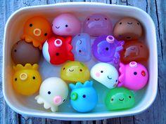 Freakin adorable.... Kitschy Octopus Toy Takochu Plastic Mini Dolls Collection Japan