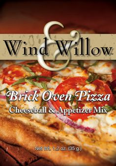 Italian spices, tomatoes, and parmesan combine to create a cheeseball that tastes like an Artisan pizza baked in a brick oven!  Wind & Willow Brick Oven Cheeseball Mix