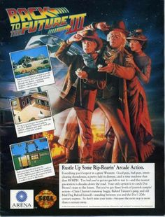 Video Game Print Ads Back to the Future III