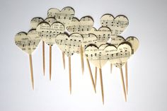 musical note cupcake toppers