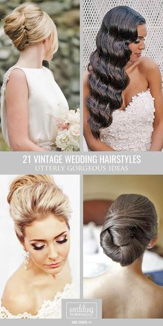 21 Utterly Gorgeous Vintage Wedding Hairstyles ❤ From 20s Gatsby style and sensational 60s chignons to retro 50s rolls, vintage wedding hairstyles come in all shapes and sizes and they are perfect. See more: http://www.weddingforward.com/vintage-wedding-hairstyles/ #weddings #hairstyles