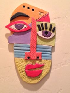 Abstract Ceramic Face by WildNanny on Etsy