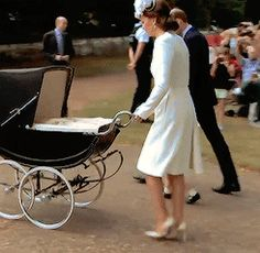 ♕ Princess Charlotte's Christening. The little family on their way to the church. ♕