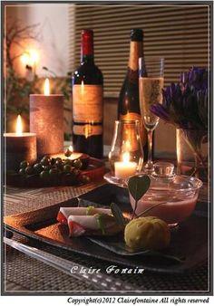 etyさん家のキャンドル卓「誕生日祝膳の和キャンドル卓」 || キャンドルを使って食卓を彩る。おうちごはんのあかり演出、ホームパーティーの提案。