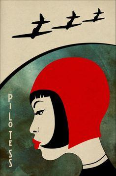 #illustration #poster Pilotess by Artem Mukhin….