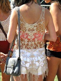 crochet + bandeau. I want the shirt.!
