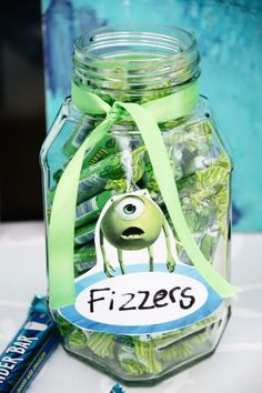 Pin for Later: This Green and Blue Monsters Inc. Birthday Party Is Beyond Sweet