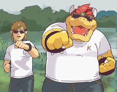 Nintendo Characters, Video Game Characters, Game Character Design, Character Drawing, Mario And Luigi, Mario Bros, Mario Smash, King Koopa, Nintendo Super Smash Bros