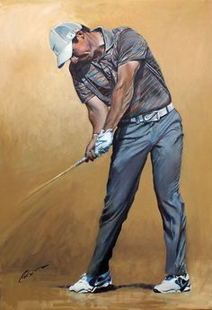 Rory McIlroy at 2014 HSBC Championship... #golf #art