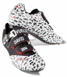 Unique fi'zi:k R1 shoes raced by Pro Cyclist David Millar, Vuelta a Espana for WWF