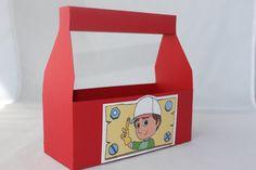 Handy Manny Favor Box. $2.00, via Etsy. 2nd Birthday Party For Girl, Birthday Cakes, Birthday Ideas, Construction Birthday Parties, Party Places, Party Time, First Birthdays, Work Sheet, Cabana