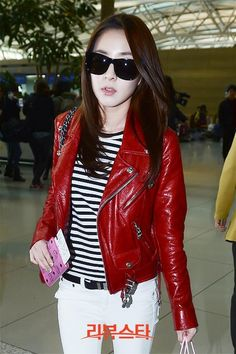 Sandara Park at Incheon International airport