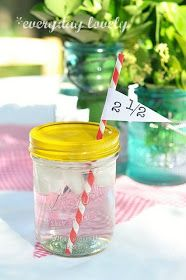 everyday lovely: Party Details & No-Spill Mason Jar Tut
