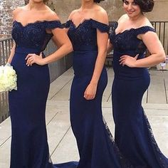 Navy blue lace sheath cheap off shoulder bridesmaid dress,bridesmaid dresses for wedding,fs121