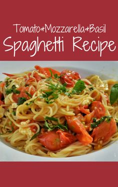 Mario Batali made a great Spaghetti with Fresh Tomatoes, Mozzarella, and Basil recipe on The Chew. http://www.foodus.com/the-chew-spaghetti-with-fresh-tomatoes-mozzarella-and-basil-recipe/