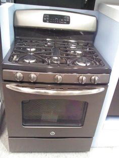 "Klenk's Sales - Appliances and Parts - JGB600EEDES 520 GE Slate 30"" 5 Burner Free Standing Gas Range"
