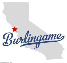 Map of Burlingame California CA