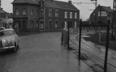 Met de tram over de Nieuwstraat in Kerkrade.