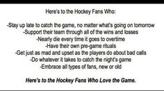 Here is to the Hockey fans