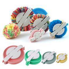 PomPom Maker - Clover Pom Pom Maker - Pompom Makers - New 4 Sizes Pompom Maker Ball Weaver Needle Craft Knitting Wool Tool Knitting Kits, Knitting Wool, Knitting Needles, Diy Pompon, Clover Pom Pom Maker, How To Make A Pom Pom, Valentines Diy, Aliexpress, Arts And Crafts