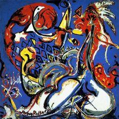 Jackson Pollock - The Moon Woman Cuts the Circle, 1943