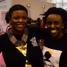 Naturally Supreme customer Chishinga and I(LaRhonda May) at the Nzuri Hair Festival last year. She's rockin' our black logo tee #naturallysupreme#natsupreme