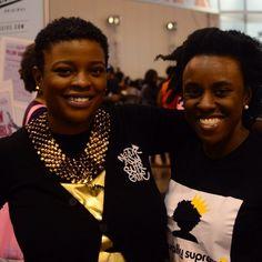 Naturally Supreme customer Chishinga and I(LaRhonda May) at the Nzuri Hair Festival last year. She's rockin' our black logo tee #naturallysupreme#natsupreme
